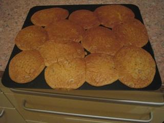 Les cookies après cuisson
