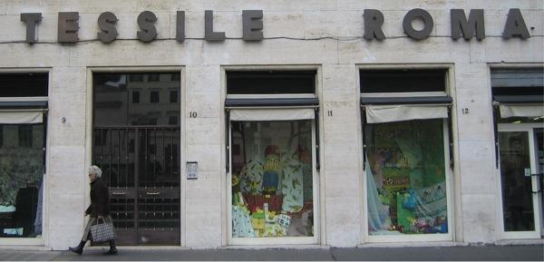 Boutiques de tissus à Rome