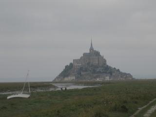 Le Mont St-Michel vu de la route