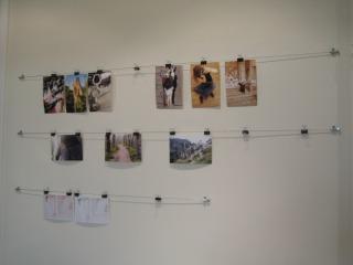 La corde à linge à photos
