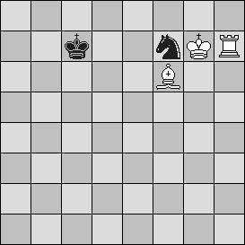 Le roi blanc et un clouage en préparation